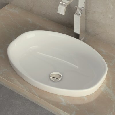 WS Bath Collections Ceramica I Self Rimming Bathroom Sink