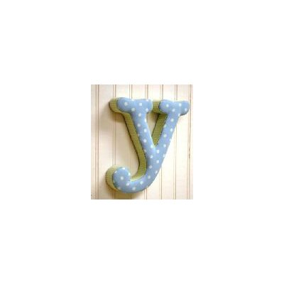 "New Arrivals ""y"" Fabric Letter in Blue / Green"