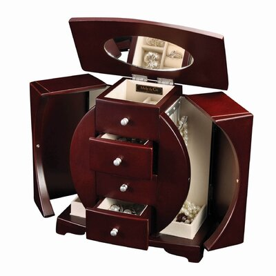 Simone Upright Jewelry Box in Mahogany