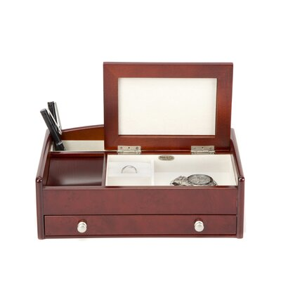 Davin Men's Dresser Top Valet in Burlwood Walnut