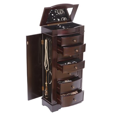 Mele & Co. Chelsea Wooden Jewelry Armoire