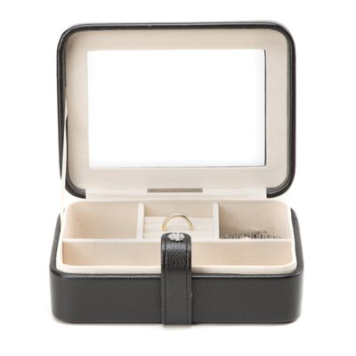 Rio Glass Top Jewelry Box in Black