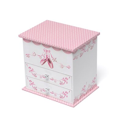 Angel Girl's Wooden Musical Ballerina Jewelry Box with Fashion Paper Overlay