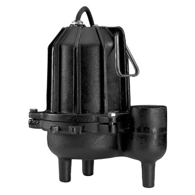 WAYNE 6/10 HP Manual Operation Cast-Iron Heavy Duty Sewage Pump
