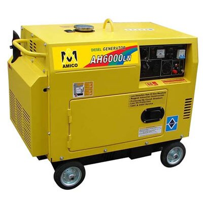Amico Power Corp 6,500 Watt Diesel Generator with Wheel Kit and Electric Start