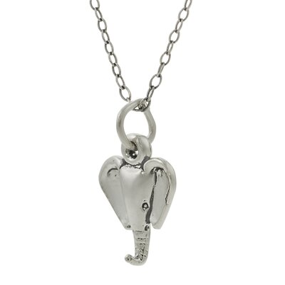 "Skyline Silver Sterling Silver Children's ""Elephant Head"" Necklace"