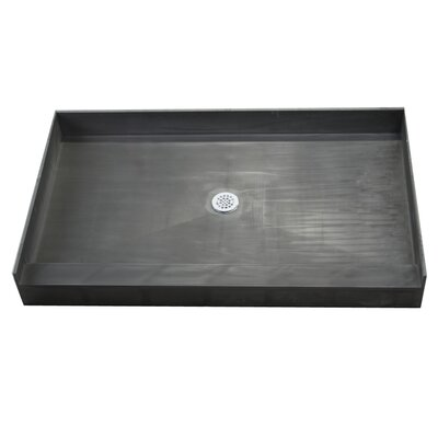 Tile Redi Single Curb Rectangular Shower Base