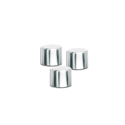 Blomus Soco Lids for Torches in Polished (Set of 3)