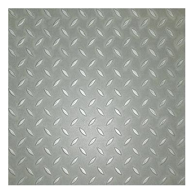 Metroflor SAMPLE - Metro Design Textured Metallic Tile Vinyl Tile in Silver