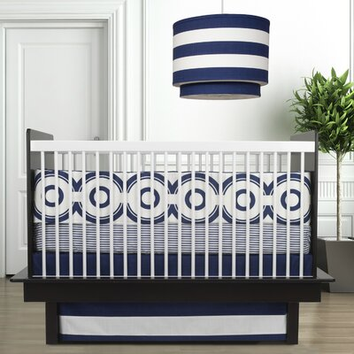 Oilo Wheels Bedding Collection in Cobalt Blue