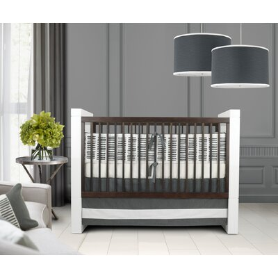 Oilo Sticks Crib Bedding Collection in Pewter