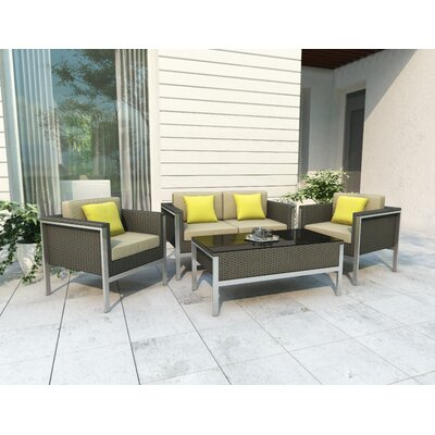 dCOR design Lakeside Deep Seating Chair with Cushions