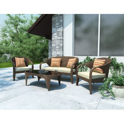 dCOR design Harrison 4 Piece Lounge Seating Group with Cushions