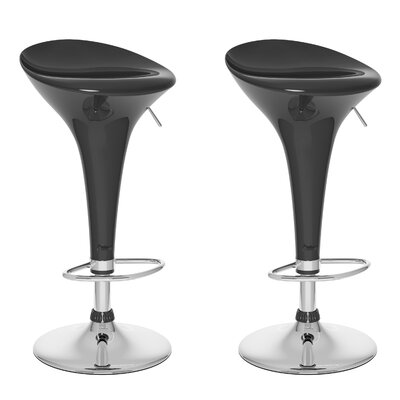 CorLiving Form Fitted Adjustable Barstool (Set of 2)