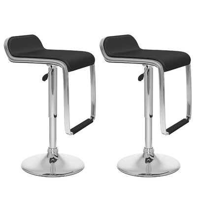 dCOR design CorLiving Adjustable Barstool with Footrest (Set of 2)