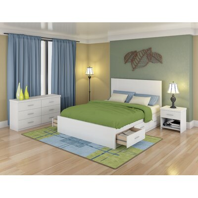dCOR design Willow Storage Platform 3 Piece Bedroom Collection