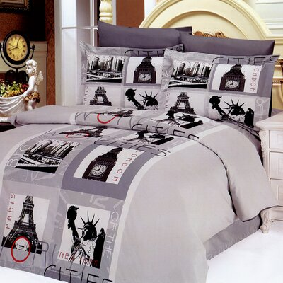 Cities 6 Piece Full / Queen Duvet Cover Set