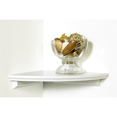 kathy ireland by LH Licensed Products Square Cottage Corner Shelf in White