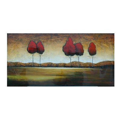 Red Trees in the Distance Oil Painting - 30