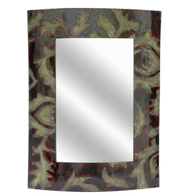 Crestview Collection Metal Leaf Wall Mirror