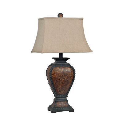 Crestview Collection Tooled 1 Light Table Lamp