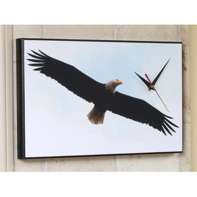 Wilson Studios Souring Bald Eagle Wall Clock