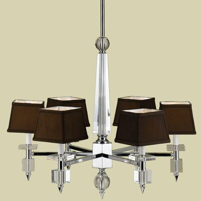 AF Lighting Cluny 6 Light Chandelier with Poly Silk Shade