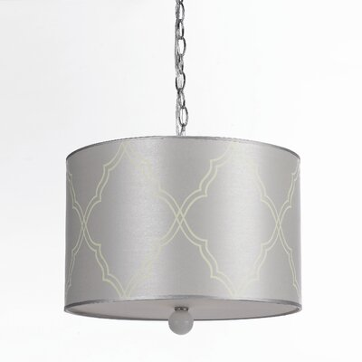 AF Lighting Horizons Trellis 3 Light Drum Pendant