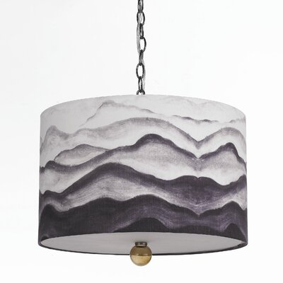 AF Lighting Horizons Mountain Air 3 Light Drum Pendant