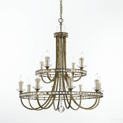 Aristocrat 12 Light Crystal Chandelier