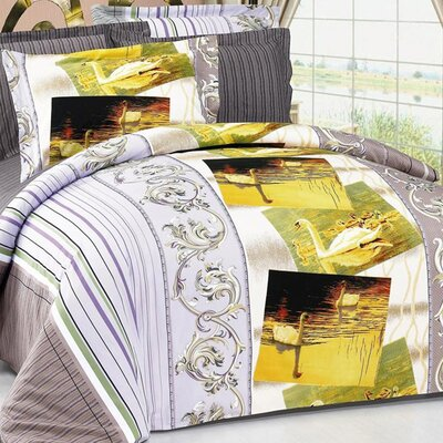Swan 6 Piece Duvet Cover Set
