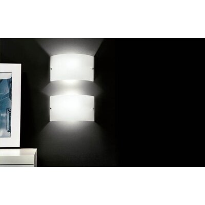 Murano Luce Slim Wall Sconce in White
