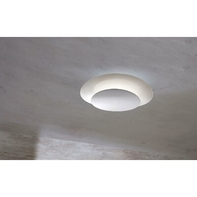 Murano Luce Plana Flush Mount in White