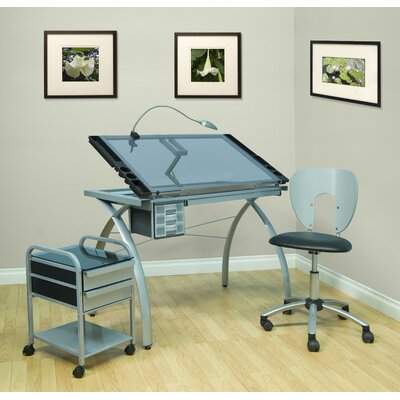 Studio Designs Futura Glass Drafting Table