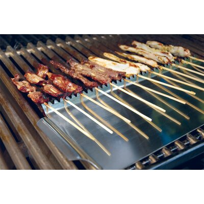 Charcoal Companion Steven Raichlen Stainless Grill Shield for Skewers