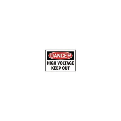 "Accuform Manufacturing Inc X 10"" Red, Black And White Aluminum Value™ High Voltage And Hazard Sign Danger High Voltage Keep Out"