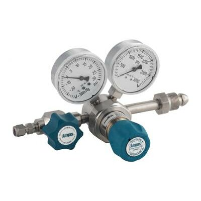 Airgas - 200 PSI Delivery Single Stage High-Purity Stainless Steel Pressure Line Regulator With 4000 PSI Maximum Rated Inlet Pressure And Threadless Seat, CGA-590