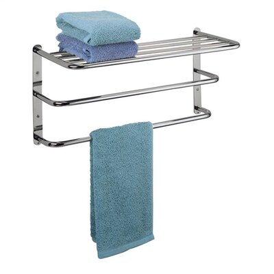 Polder Chrome Single Shelf/Towel Rack