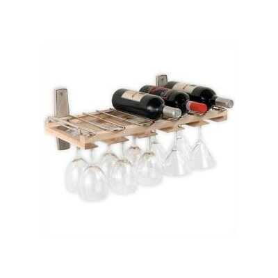 J.K. Adams 5 Bottle Wall Mounted Wine Rack