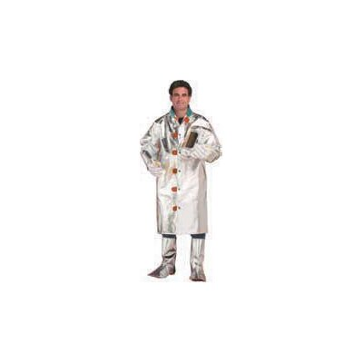 "Chicago Protective Apparel Inc Large Aluminized Carbon Kevlar® 50"" Coat With Velcro® Closure"