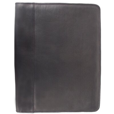 Piel Leather Entrepeneur Zippered Padfolio