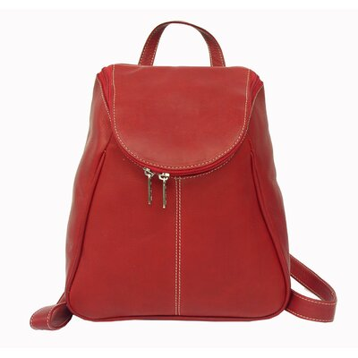 Piel Leather U-Zip Flap Backpack