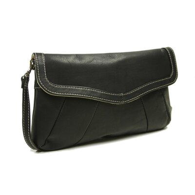 Piel Leather Fashion Avenue Rainbow Purse / Clutch in Black