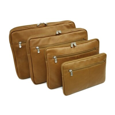"Piel Leather Entrepreneur 17"" Zip Laptop Sleeve in Saddle"
