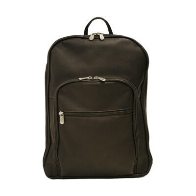 Piel Leather Entrepreneur Multi-Compartment Laptop Backpack in Chocolate