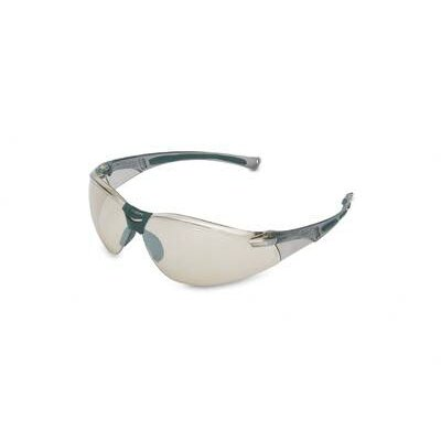 A800 Series Safety Glasses With Gray Frame And Indoor/Outdoor Silver Mirror Lens (10 Per Box) ...