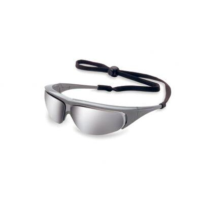 Millennia™ Safety Glasses With Silver Mirror Lens And Black Frame