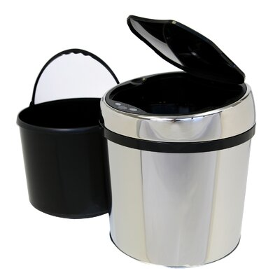 iTouchless 1.5 Gallon Stainless Steel Automatic Touchless Trash Can