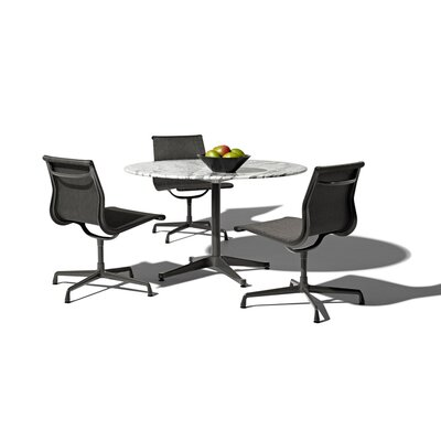 "Herman Miller ® Eames 4 Piece Dining Set with 48"" Table"