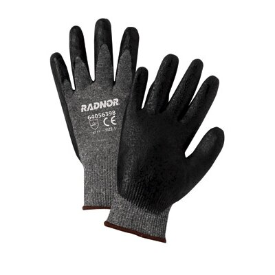 Radnor Black Premium Foam Nitrile Palm Coated Work Glove With 15 Gauge Seamless Nylon Liner And Knit Wrist